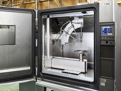 防水特性(IPX9K)を評価する専用装置